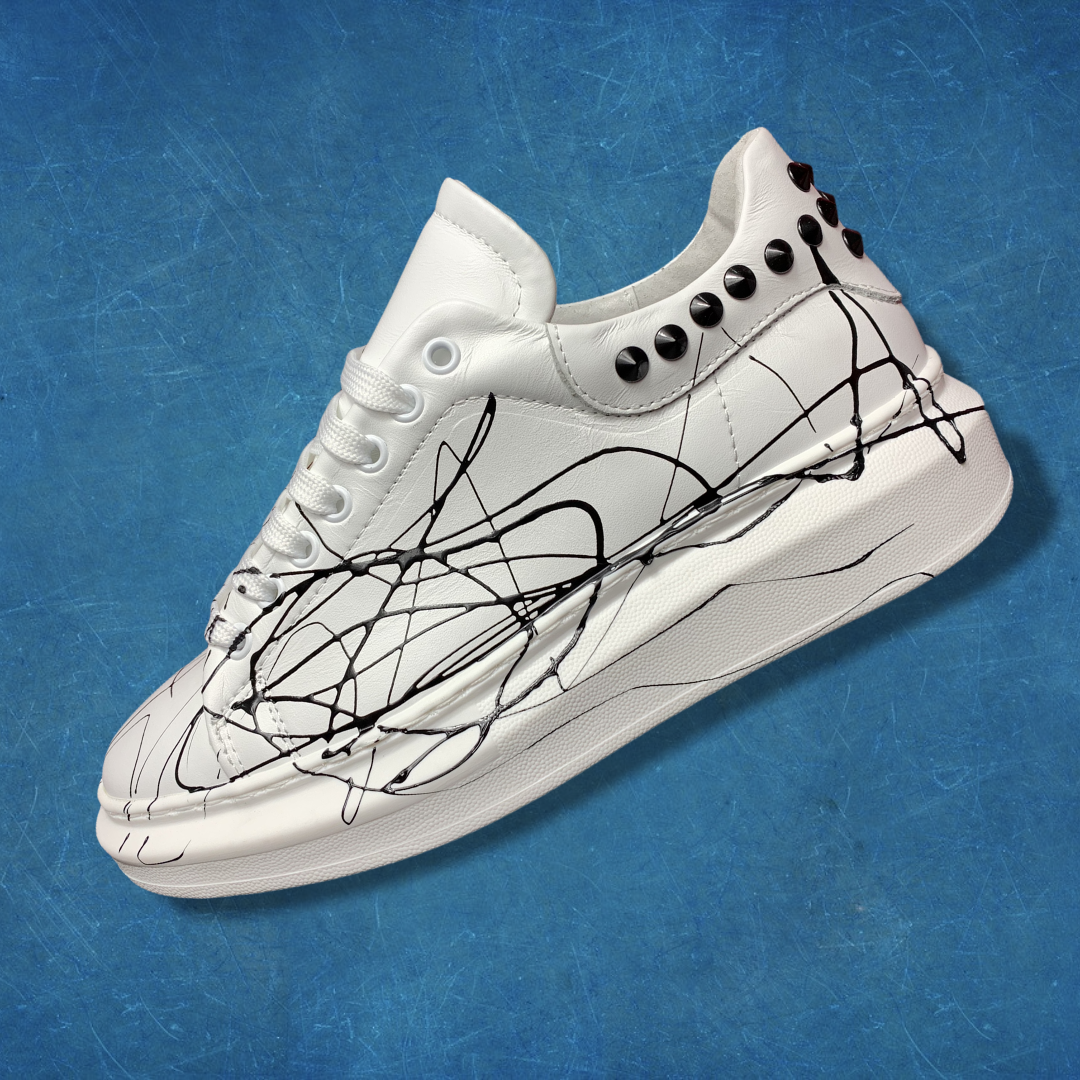 Sneakers esclusive bianca schizzo - Made in Italy-2