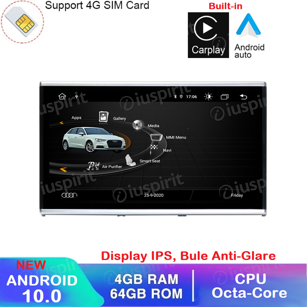 ANDROID 10 navigatore per Audi A6 Audi A7 2012-2016 GPS WI-FI Bluetooth MirrorLink 4GB RAM 64GB ROM Octa-Core 4G LTE Car Play Android Auto
