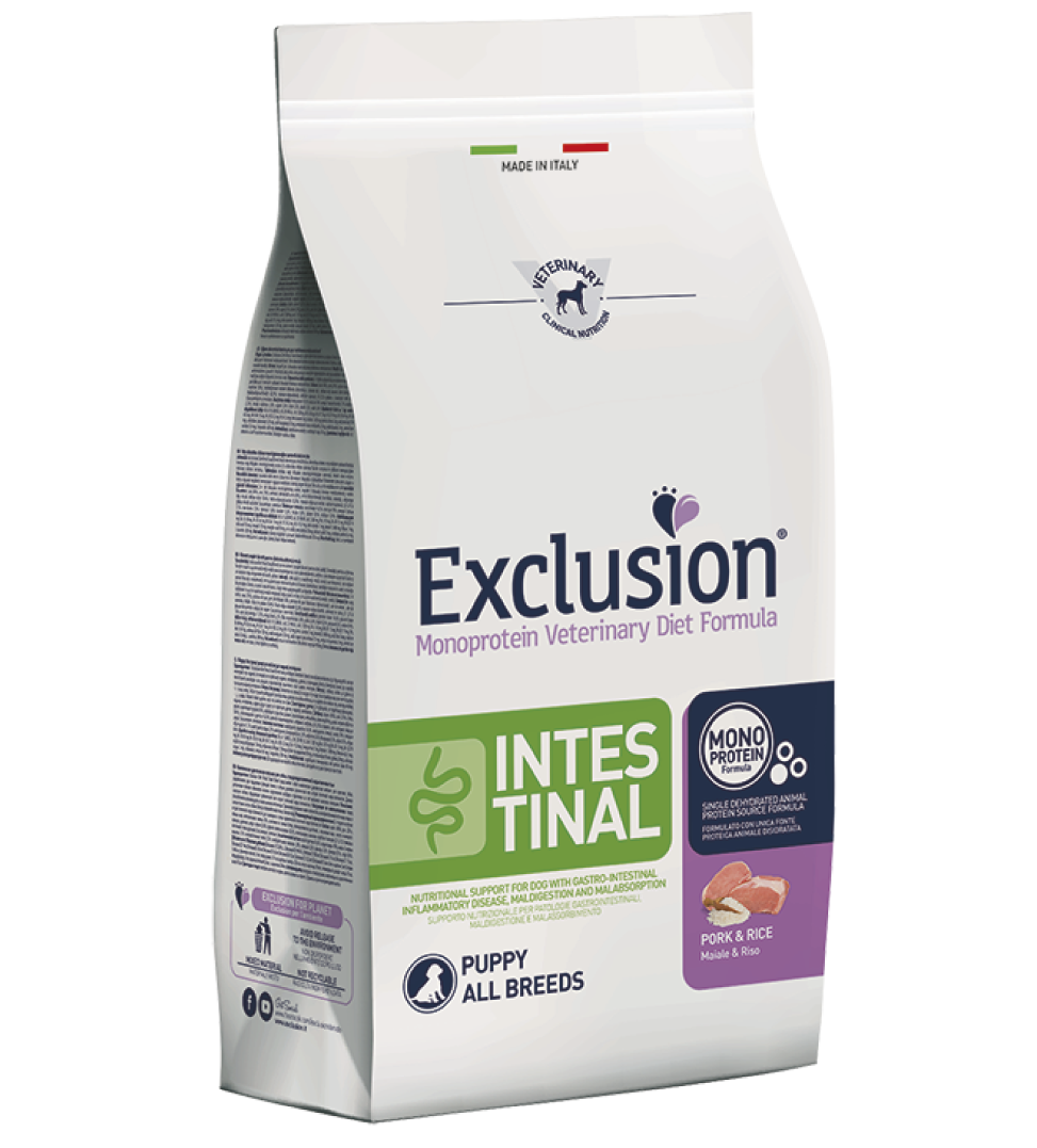 Exclusion - Veterinary Diet Canine - Intestinal - Puppy - 2kg