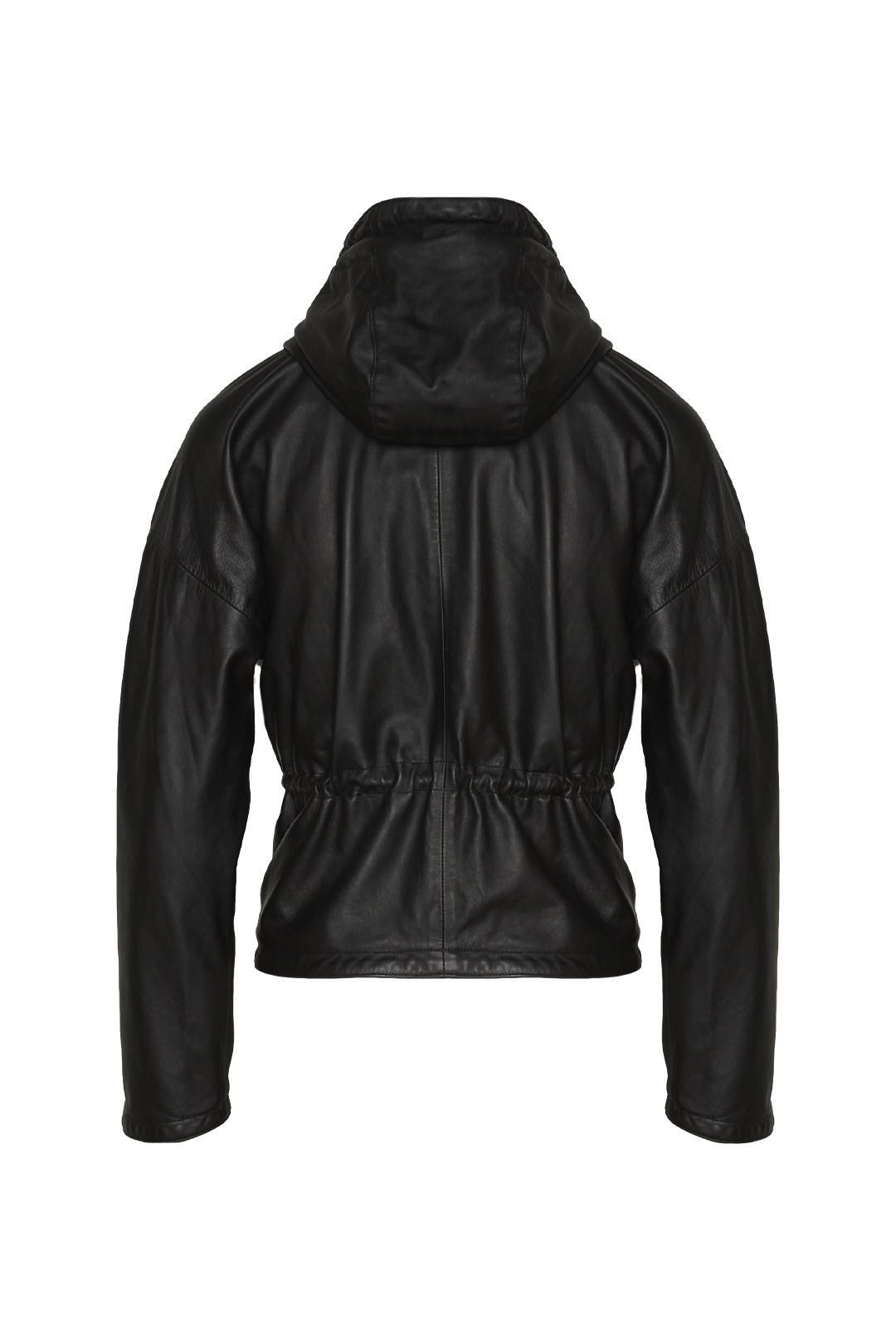 Hooded Leather Jacket 2