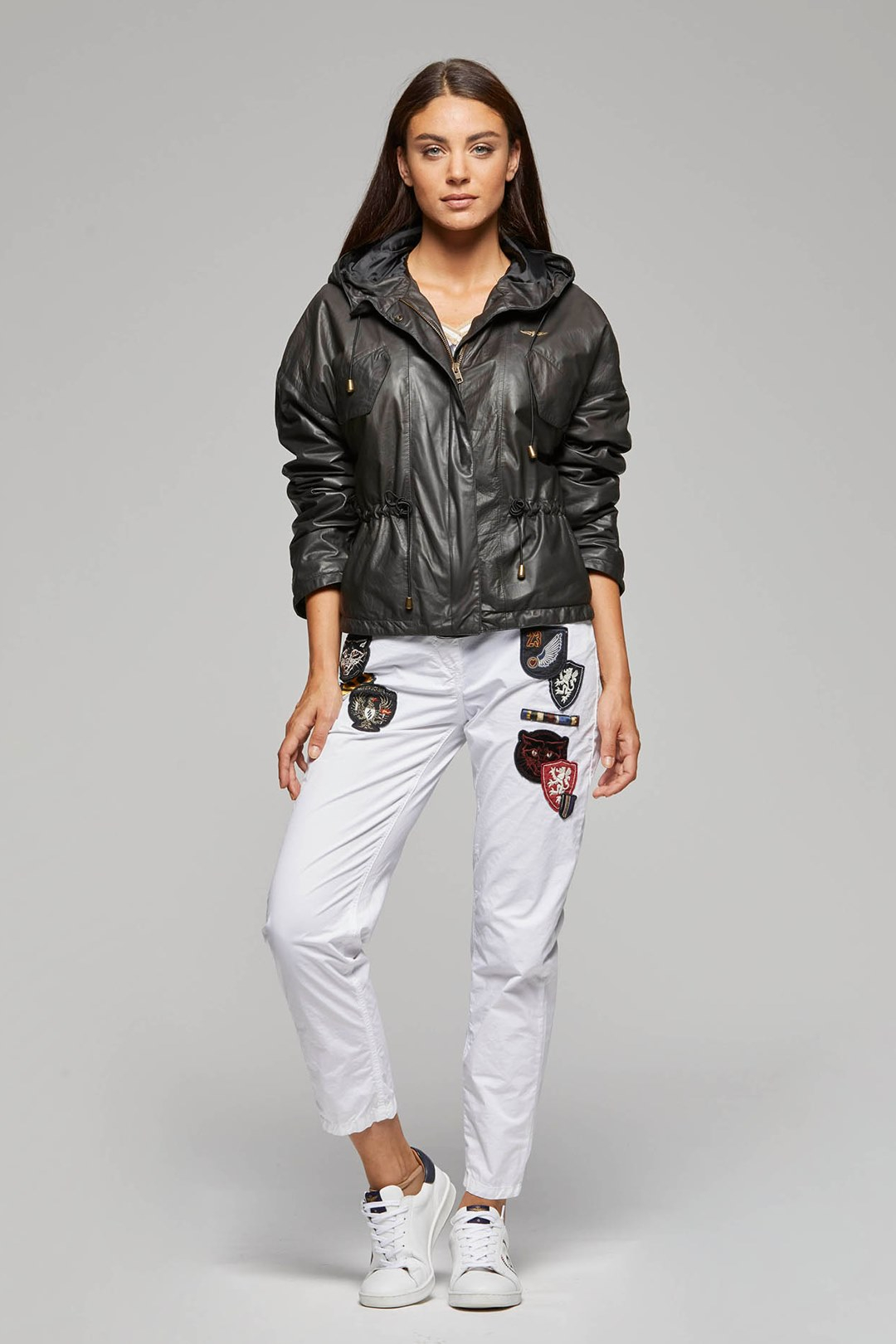 Hooded Leather Jacket 4