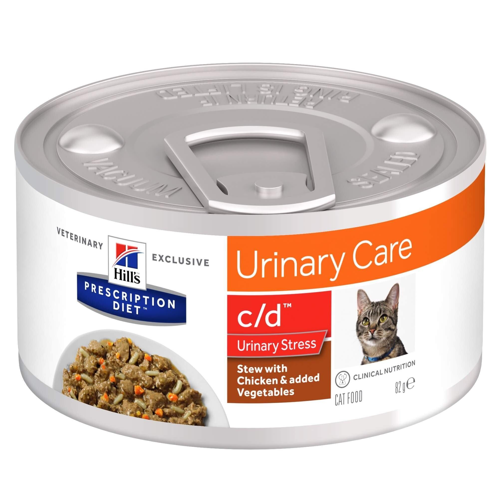 Hill's - Prescription Diet Feline - c/d Urinary Stress Stew - 82g x 6 lattine