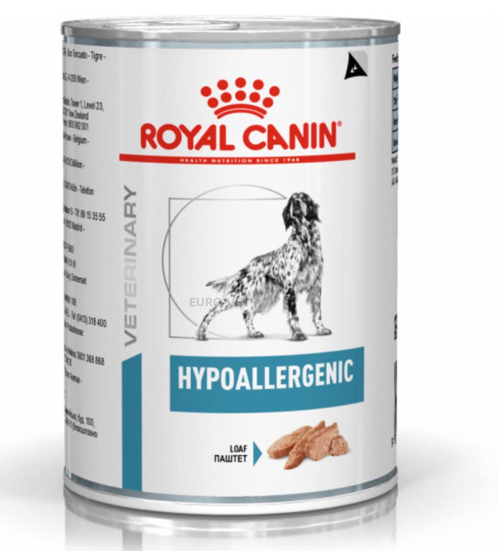 Royal Canin - Veterinary Diet Canine - Hypoallergenic - 400g x 6 lattine