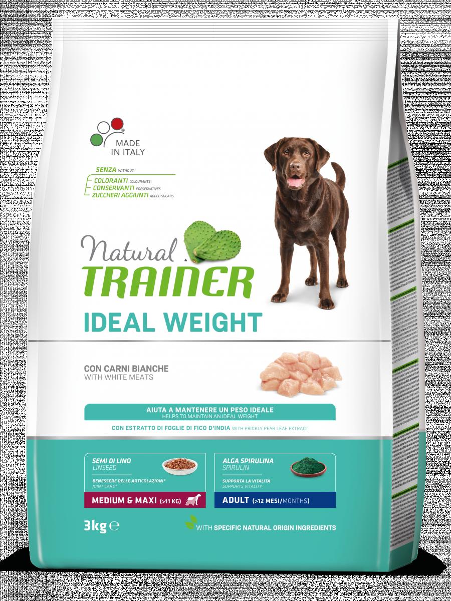 Trainer Natural - Medium&Maxi - Ideal Weight - Carni Bianche - 3 kg