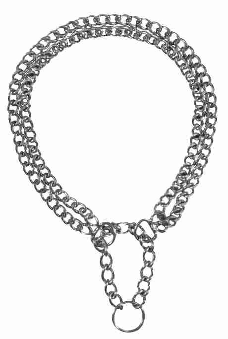 Trixie - Collare semistrangolo due file - 55cm/2mm