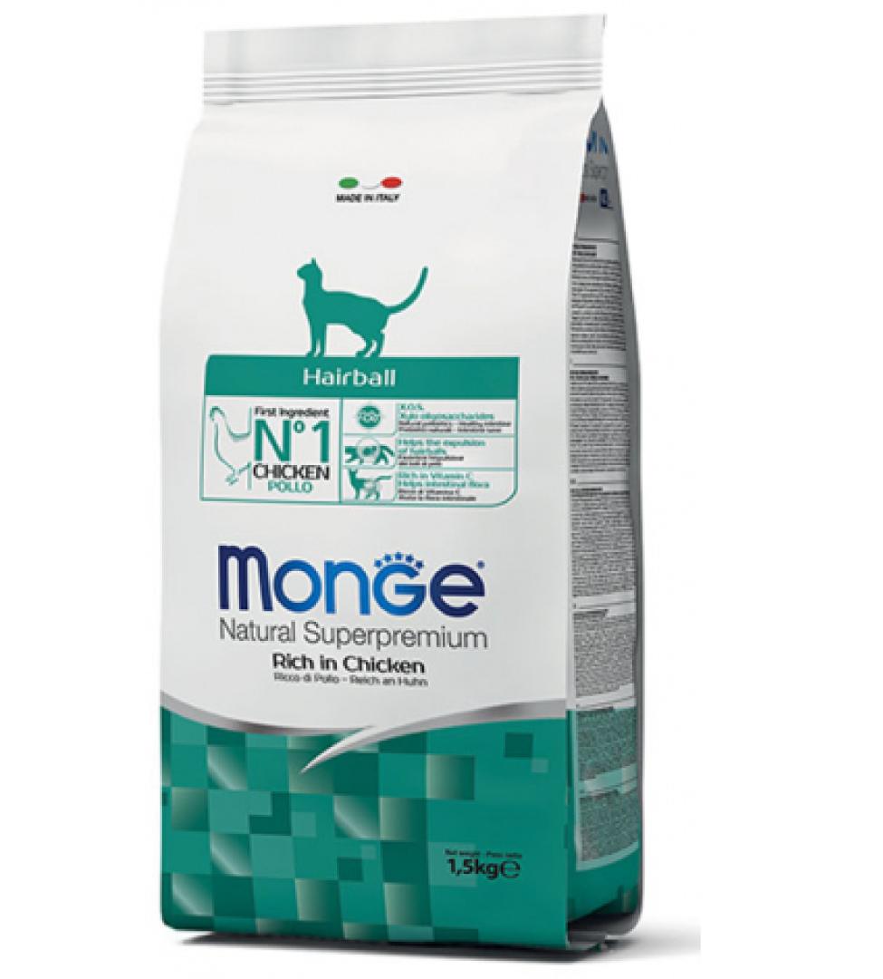 Monge Cat - Natural Superpremium - Hairball - 1.5 kg