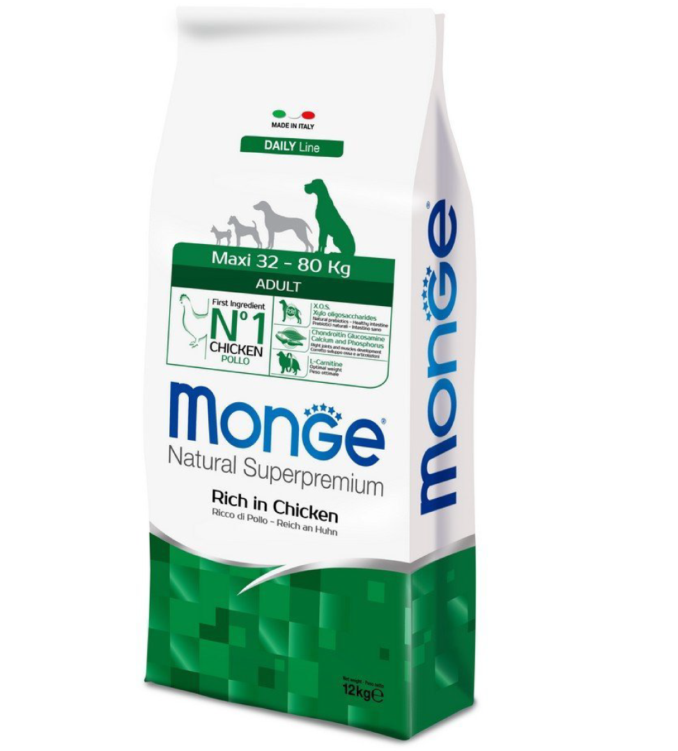 Monge - Natural Superpremium - Maxi Adult - 12 kg x 2 sacchi