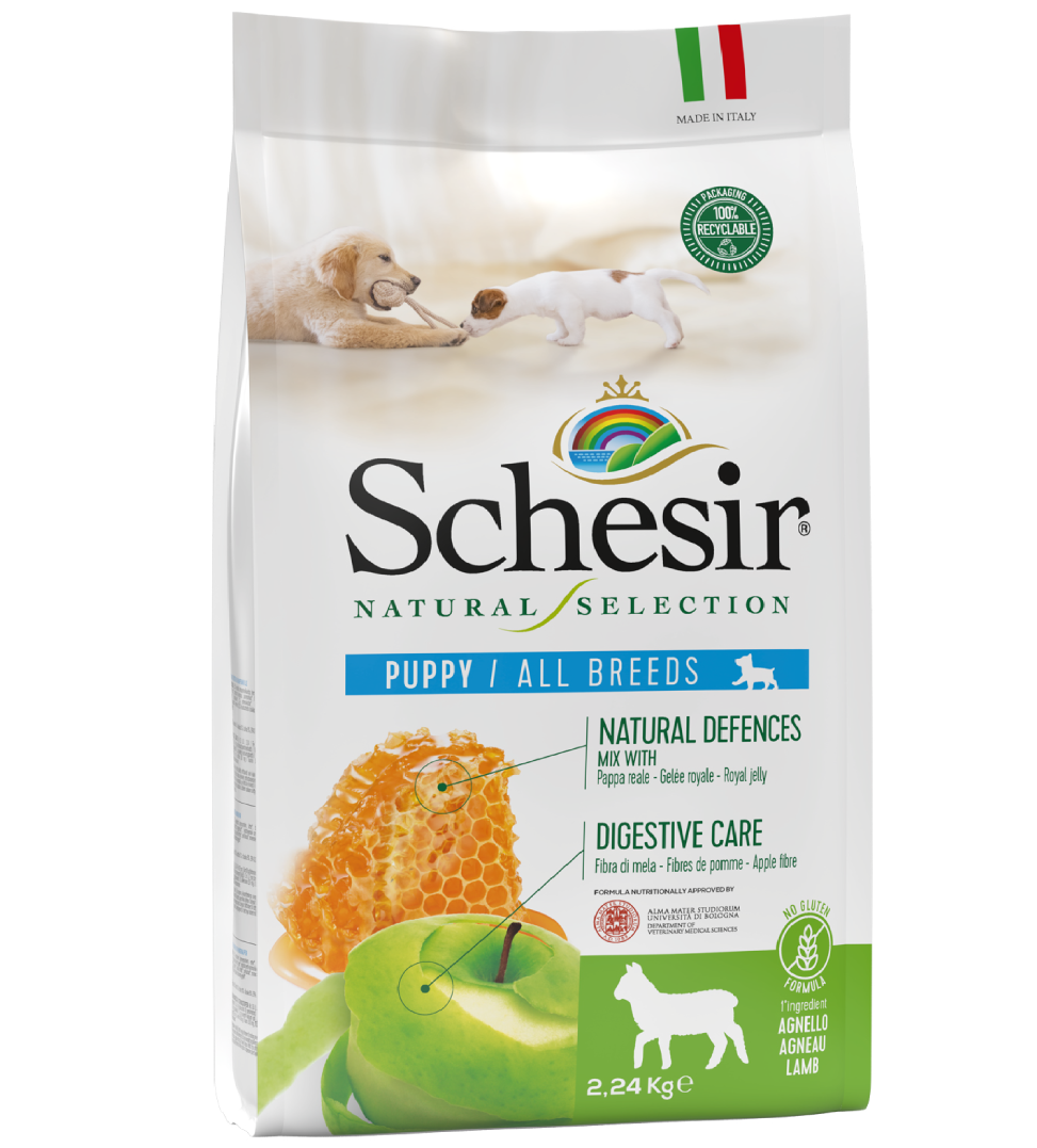 Schesir Dog - Natural Selection - All Breeds - Puppy - Agnello - 2,24 kg