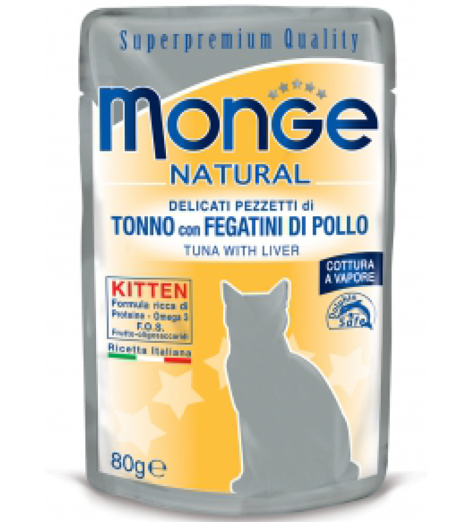 Monge Cat - Superpremium Quality - Natural - Kitten - 80g x 6 buste