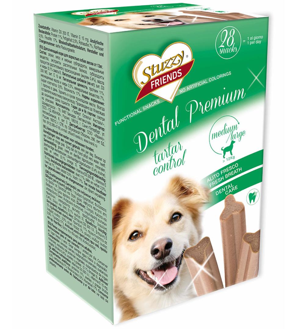 Stuzzy Dog Friends - Dental Premium - Medium/Large - 28 pezzi 4x180gr