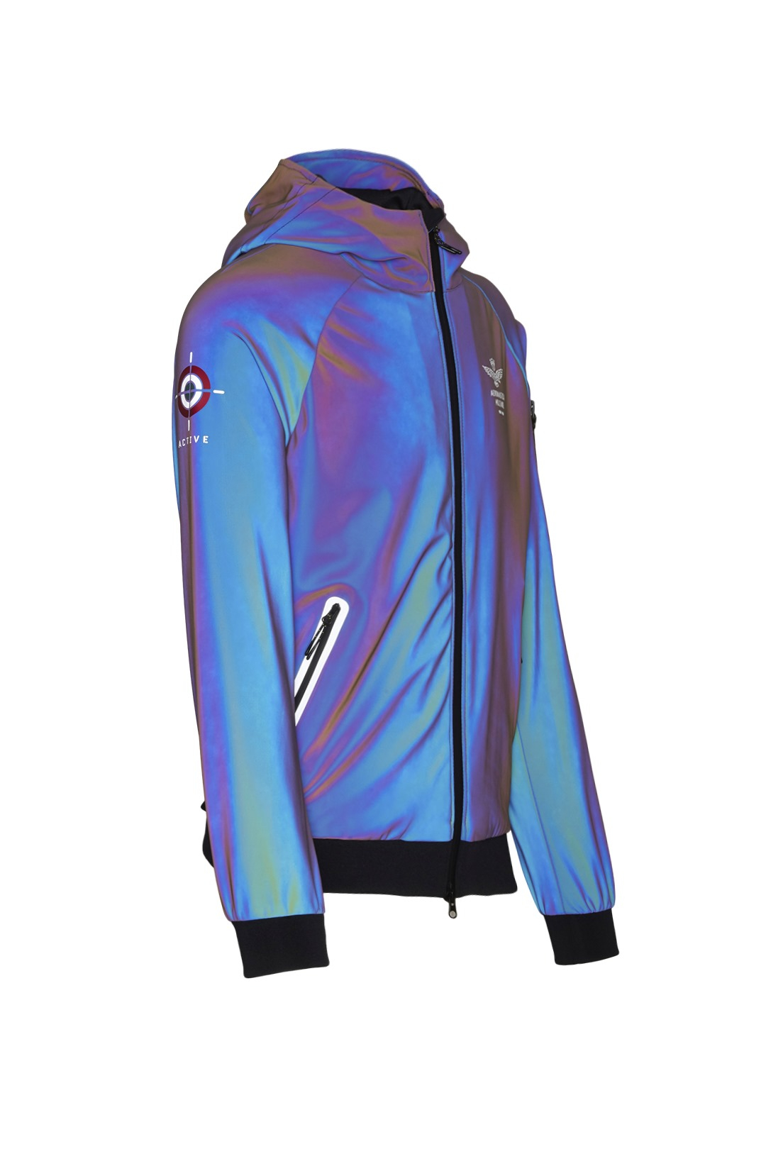 Jacket with iridescent technical fabric 3