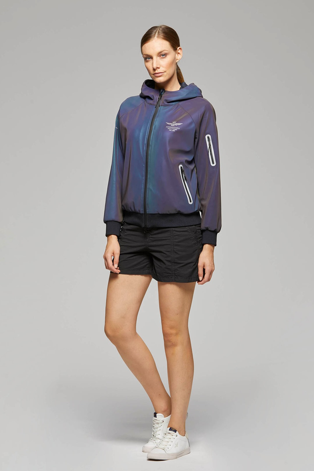 Jacket with iridescent technical fabric 4