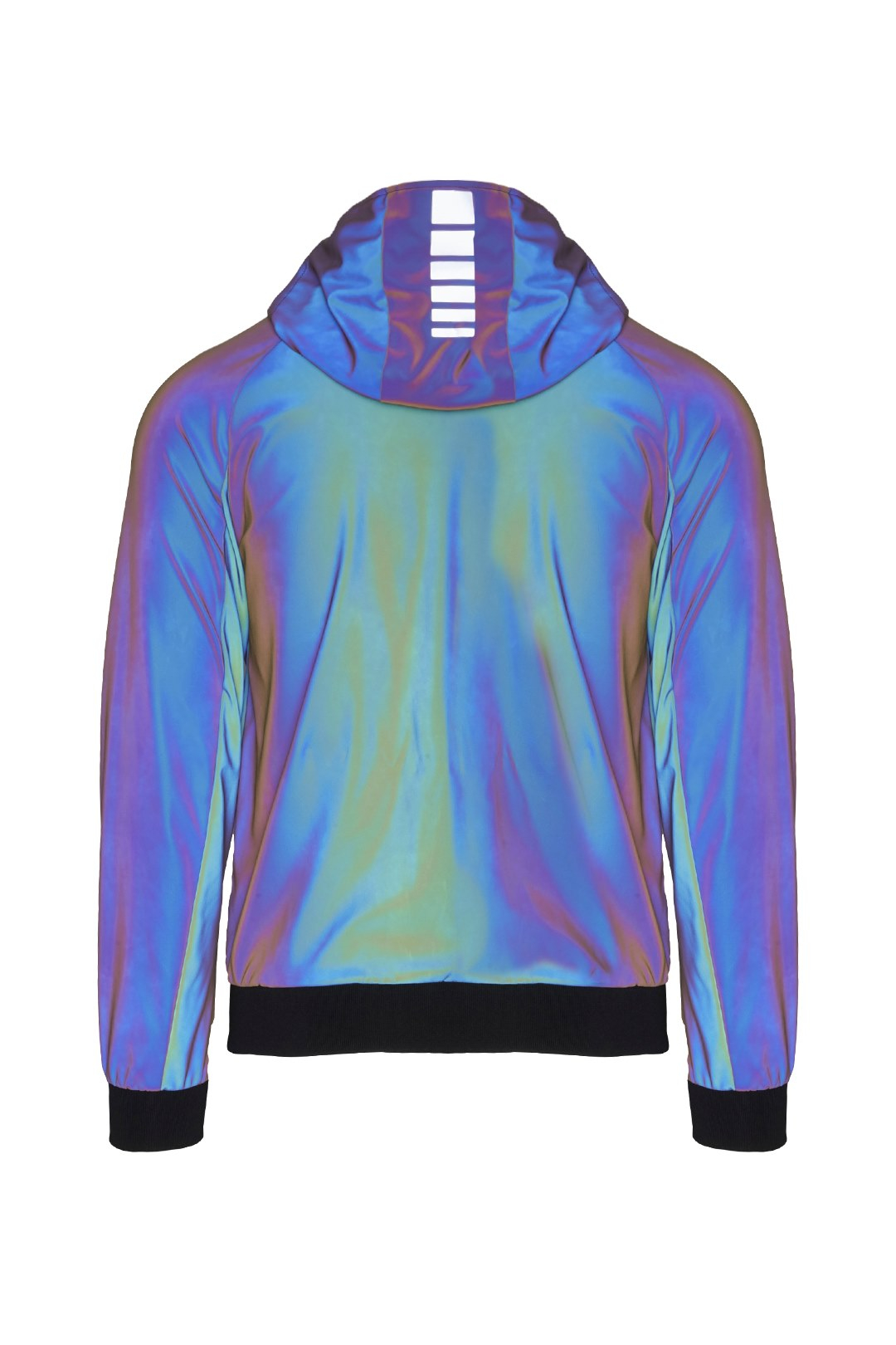 Jacket with iridescent technical fabric 2