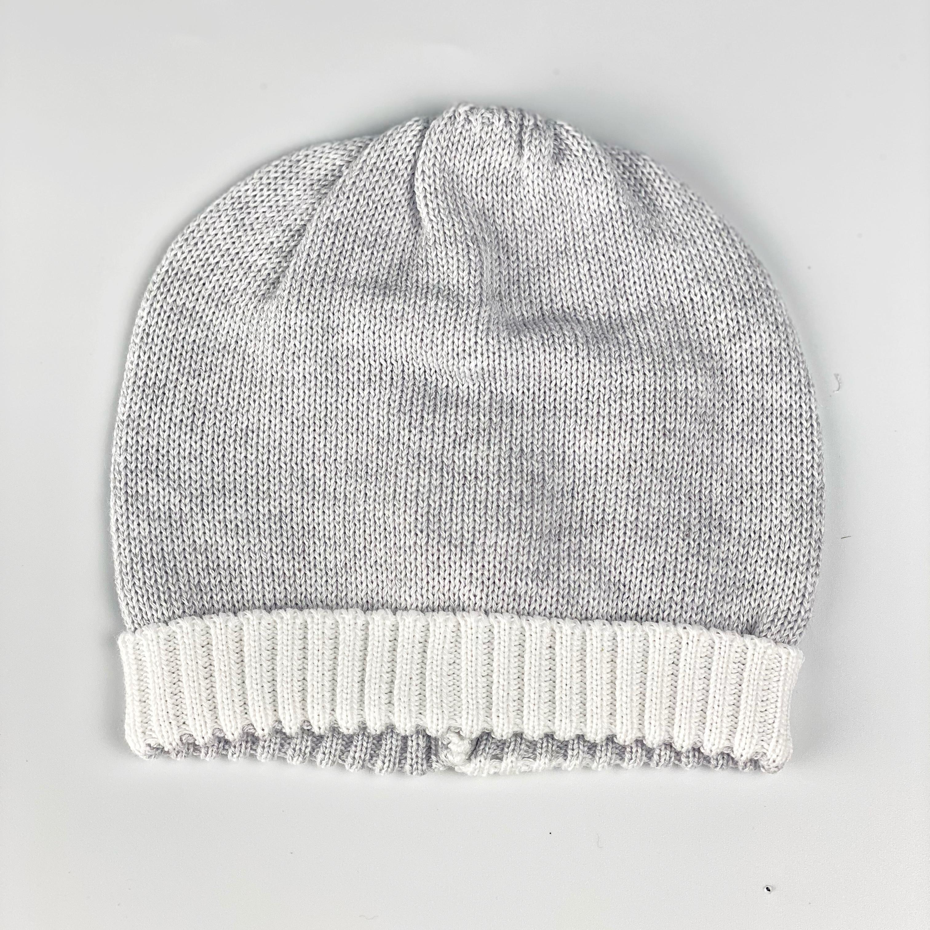 cappello in cotone rasato
