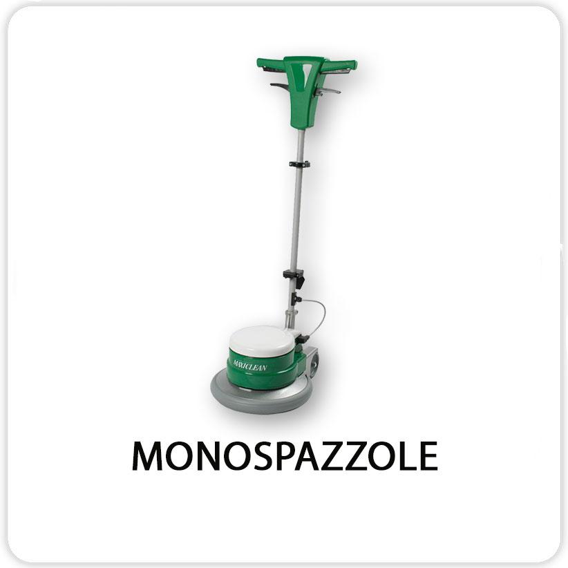 Monospazzole adatte a tutti gli usi e tipi di pavimentazione