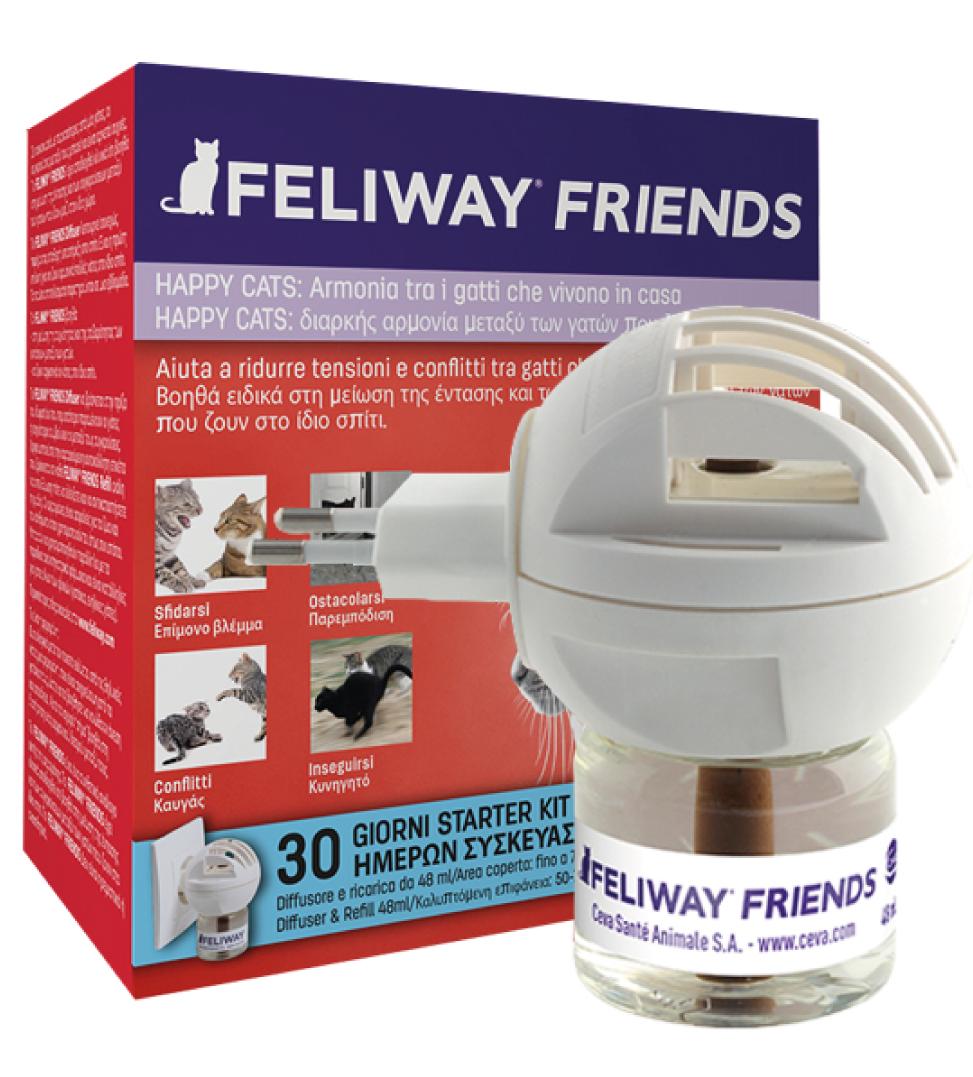 Ceva - Feliway Friends - Starter Kit (Diffusore + Ricarica)