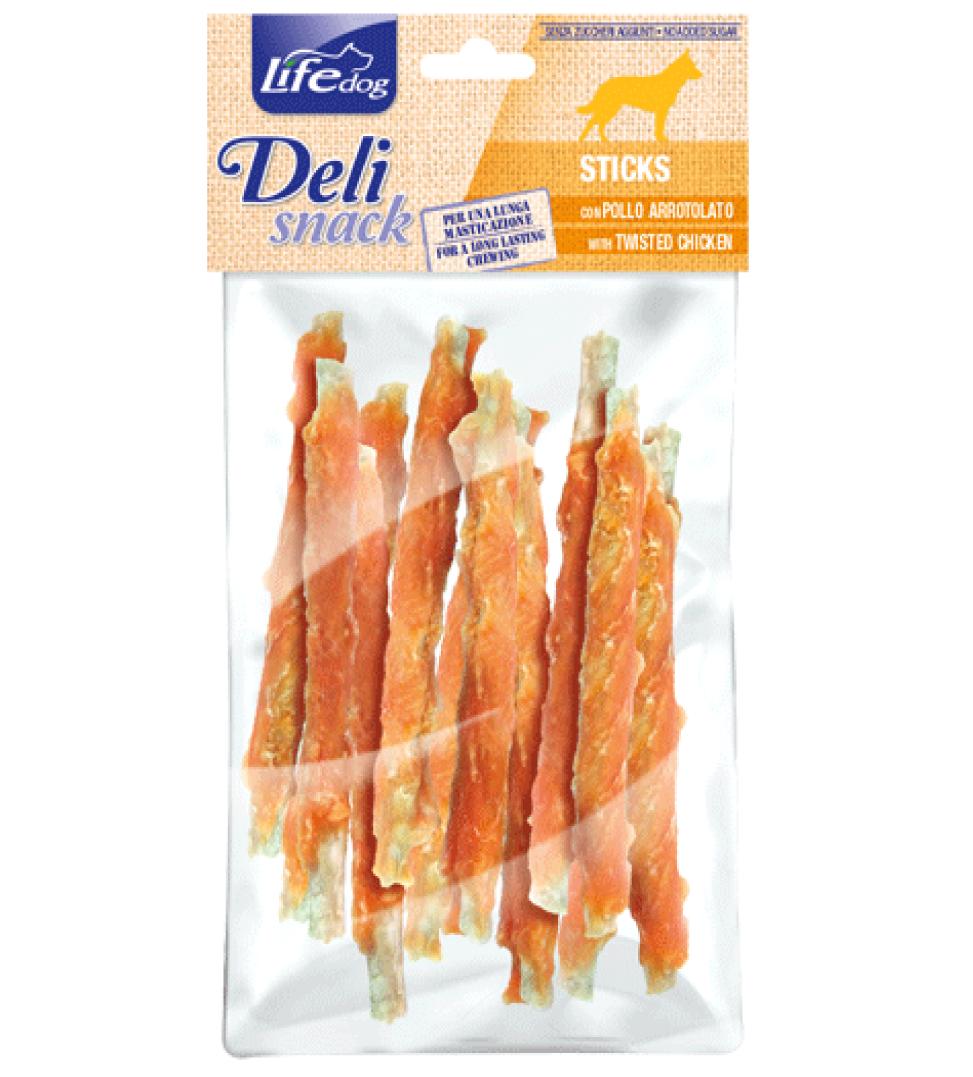 LifeDog - Deli Snack - Stick con Carne Essiccata - 100gr
