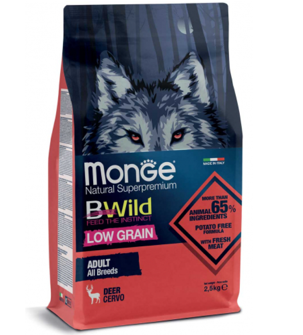 Monge - BWild Low Grain - All Breeds Adult - 12 kg
