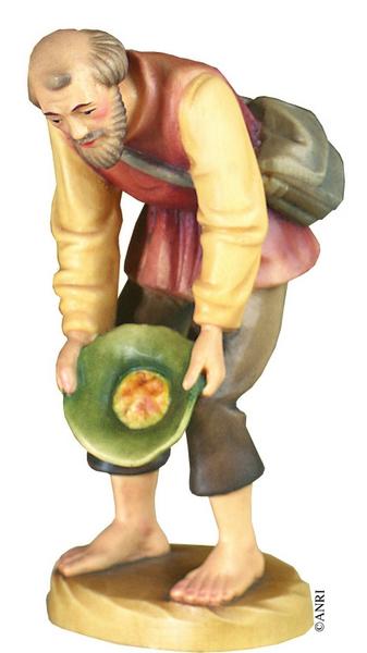Pastore con cappello per presepe Anri Kuolt  cm.12,5