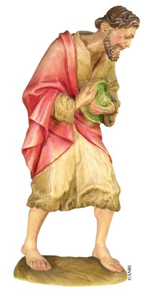 Pastore con cappello presepe Anri Kuolt  cm.12,5