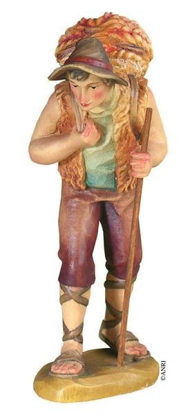 Pastore con cesto per presepe Anri Kuolt  cm.12,5
