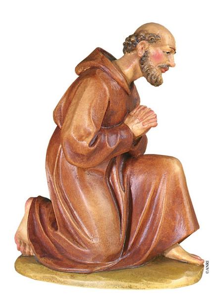 Pastore inginocchiato presepe Anri Kuolt  cm. 12,5