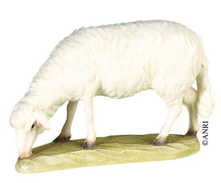 Pecora che bruca per presepe Anri Kuolt  cm.12,5