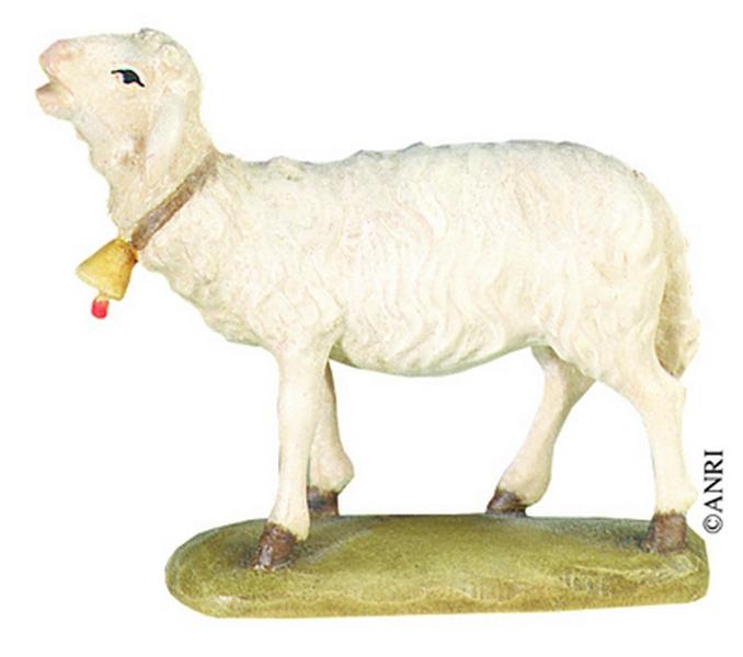 Pecora con campanello per presepe Anri Kuolt  cm. 12,5