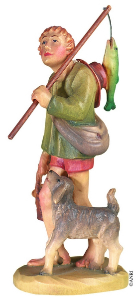 Pescatore per presepe Anri Kuolt  cm. 12,5