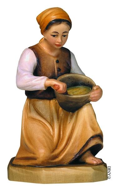 Polentaia per presepe Anri Kuolt  cm. 12,5