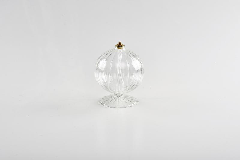 Lume melograno vetro soffiato base