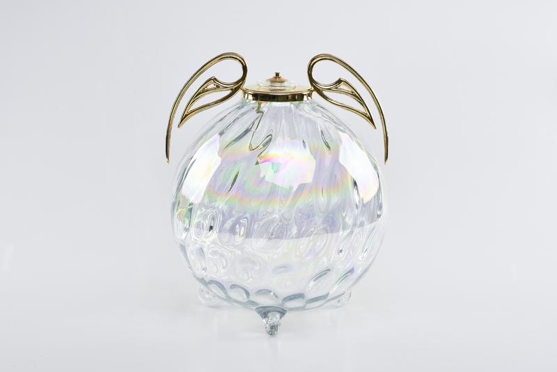 Lampada cristallo di Boemia  diam.cm. 25x26 con cartuccia a cera liquida
