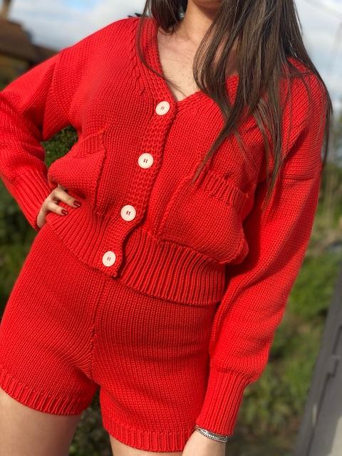 Completo Vicolo in maglia di cotone con giacchina