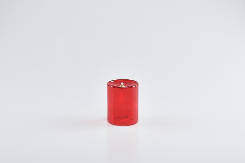 Vetro rosso stoppino integrato