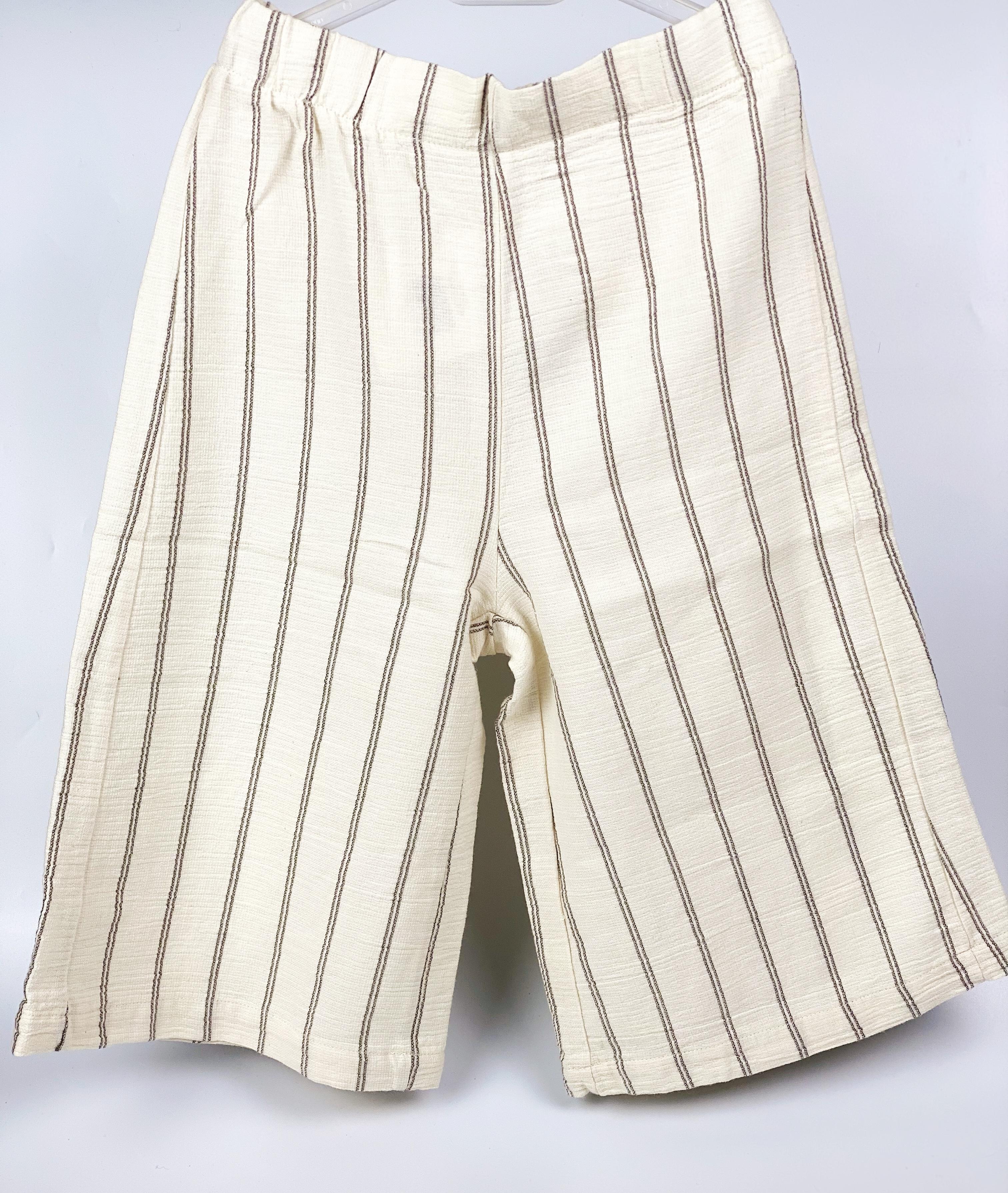 pantalone palazzo in cotone biologico