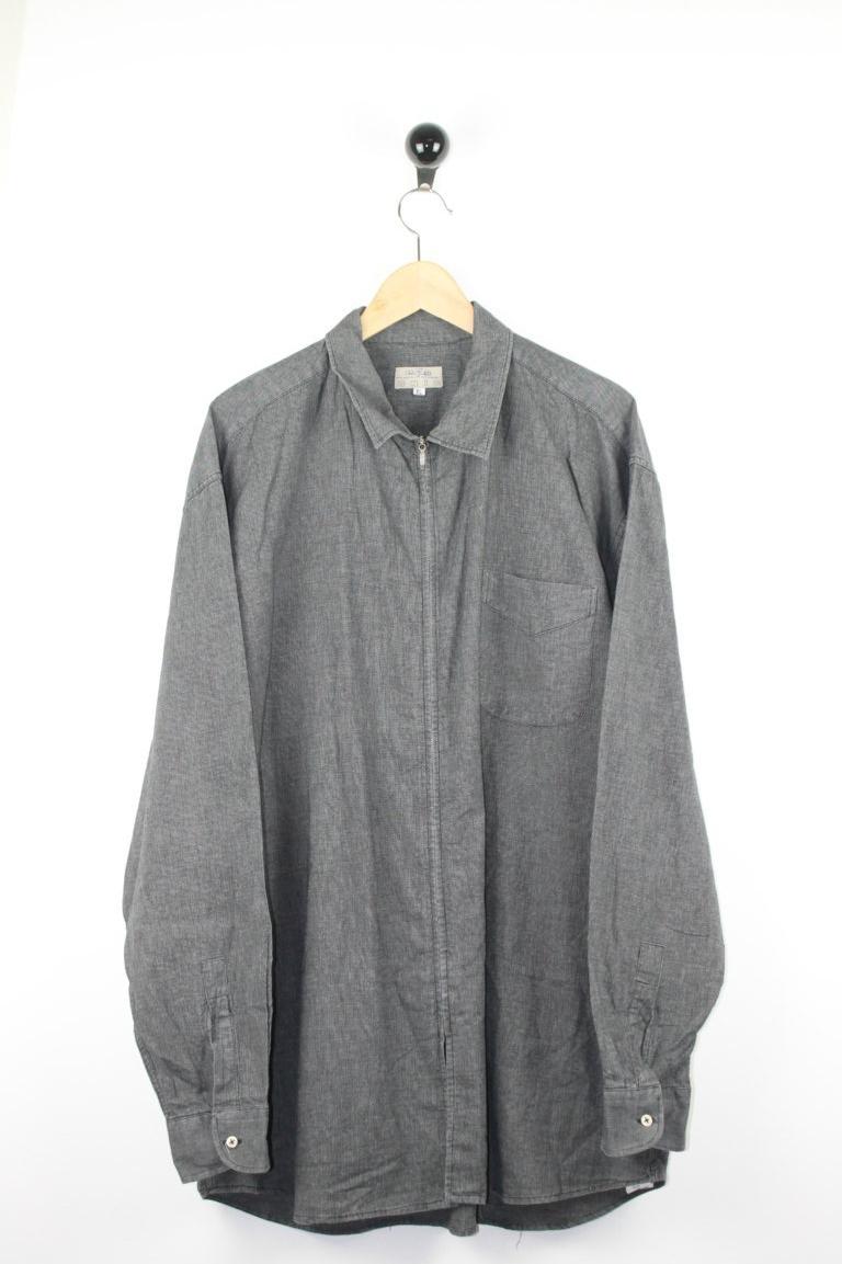 Camicia zip cotone