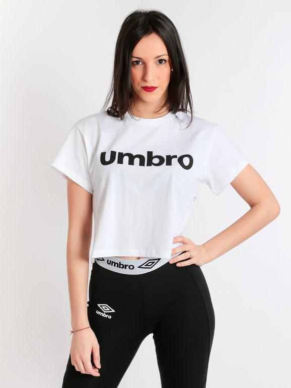 T-shirt corta Umbro - Cropped shirt bianca