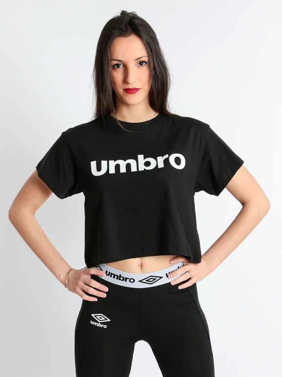 T-shirt corta Umbro - Cropped shirt nera