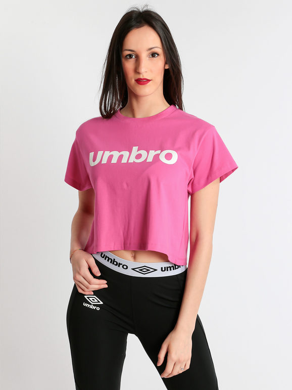 T-shirt corta Umbro - Cropped shirt Pink