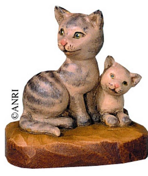 Gruppo  di gatti per presepio Anri Ulrich Bernardi  cm. 10