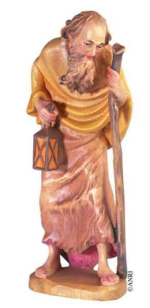 Pastore con lanterna Anri Ulrich Bernardi  cm. 10