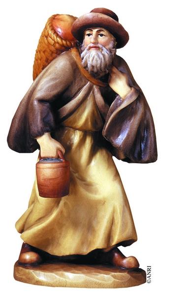 Pastore contadino presepio Anri  Ulrich Bernardi cm. 20