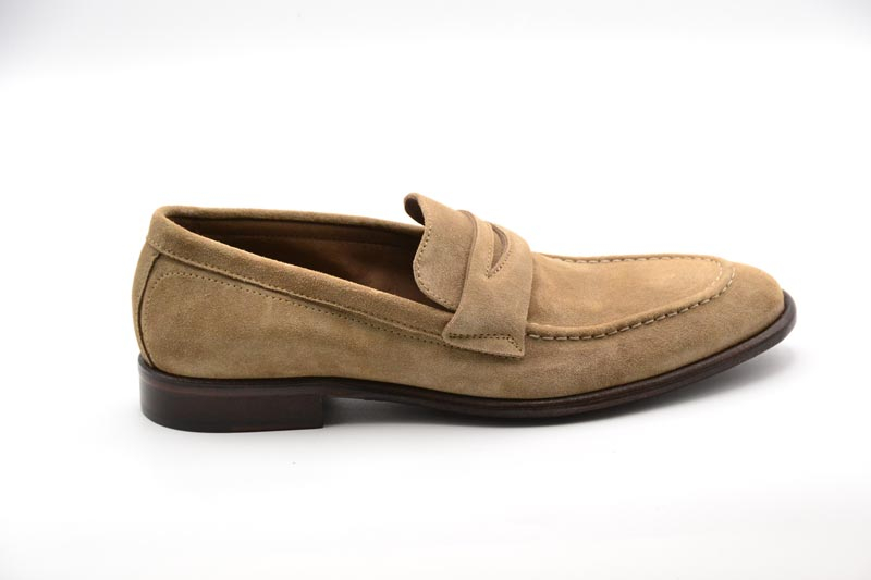 NOVITA' P/E 2021 Hundred100 - Calzatura Uomo Mocassino Suede Cocco108 M653-01