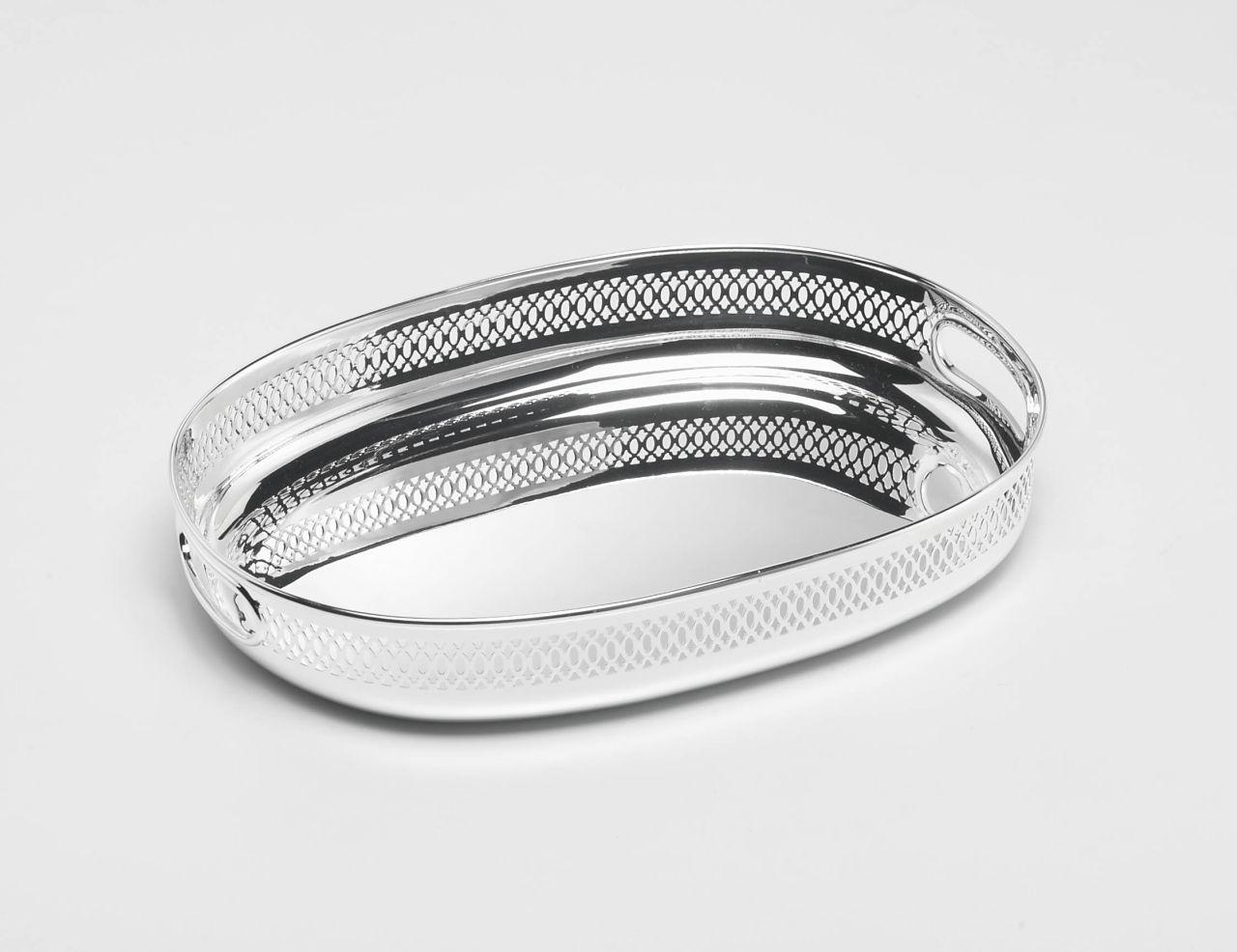 Vassoio ovale griglia stile Inglese argentato argento sheffield