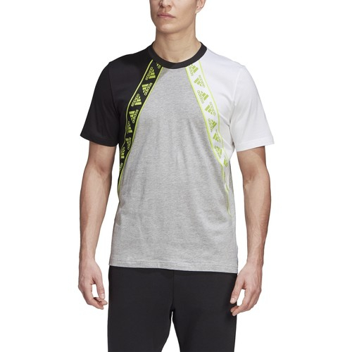 T-shirt Adidas maniche corte da uomo - FU0028 mgreyh/black/white