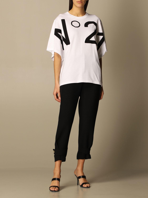 T-shirt n21 bianca con logo