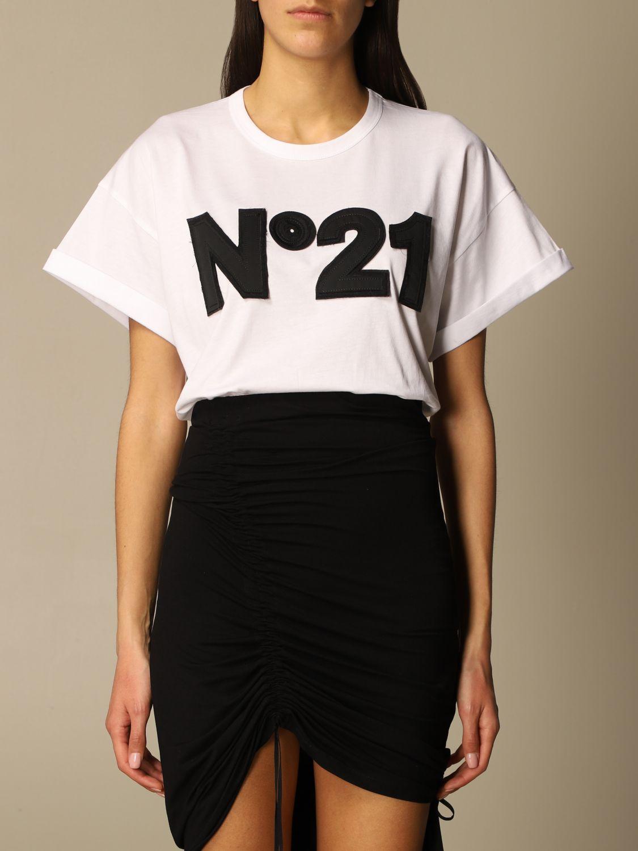 T-shirt N°21 bianca