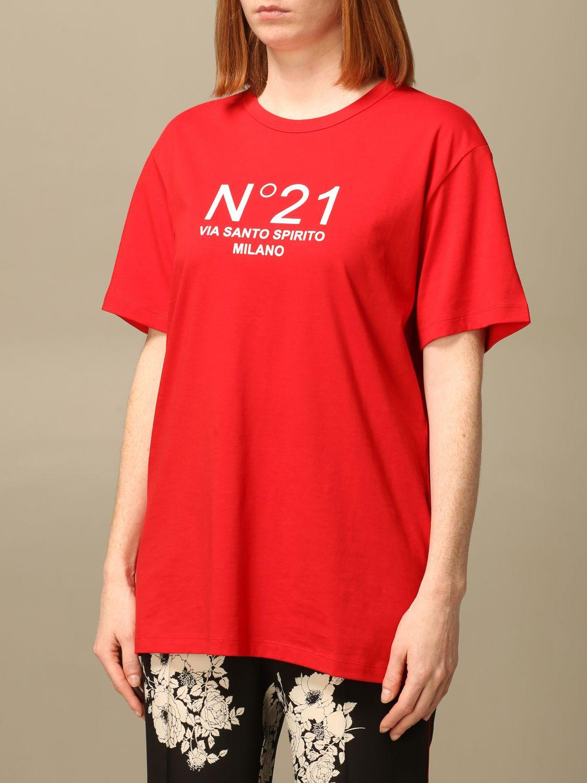 T-shirt N°21 rossa via santo spirito