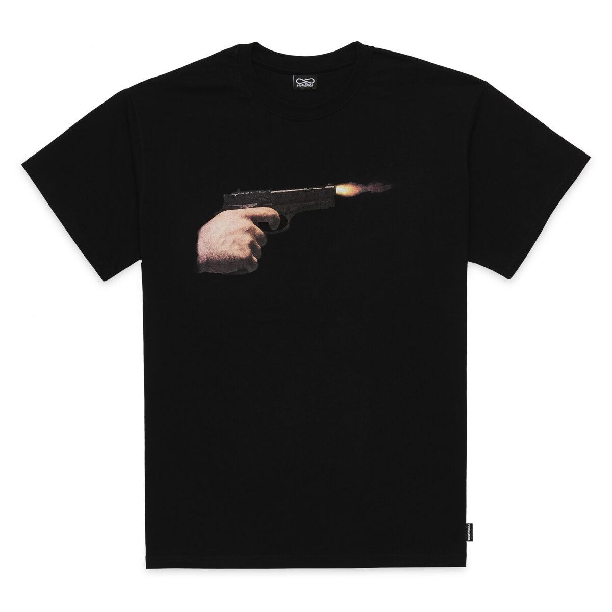 T-shirt Propaganda - GUN Tee SS21 Black
