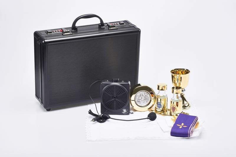 Valigia per celebrazione con amplificatore